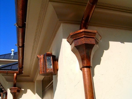 Wooden Gutter with Light Collectors