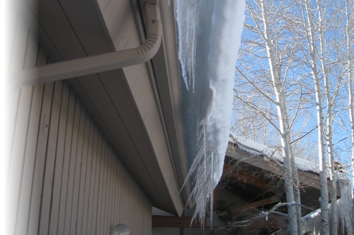 Frozen Over Gutter