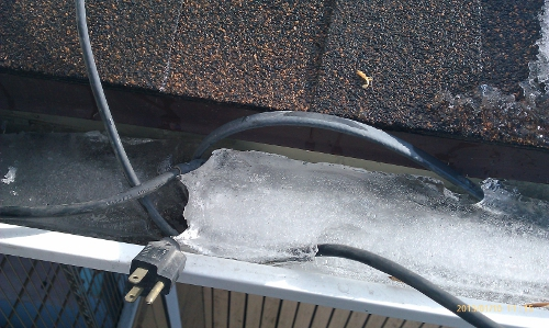 Frozen Gutter with an Accessory