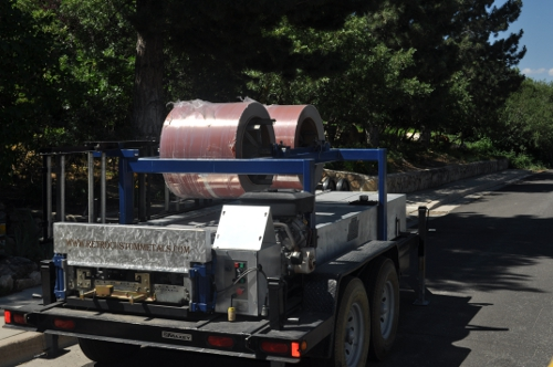 Truck Carrying Metal Roof Materials