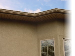 Tan House with Fascia and Soffit