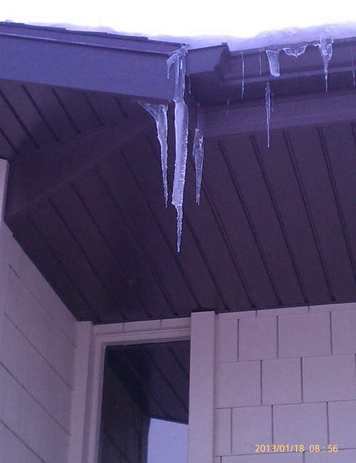 Cement Board with Icicles
