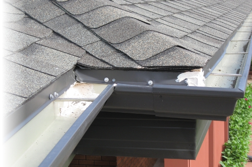 View of a Roof Gutter System
